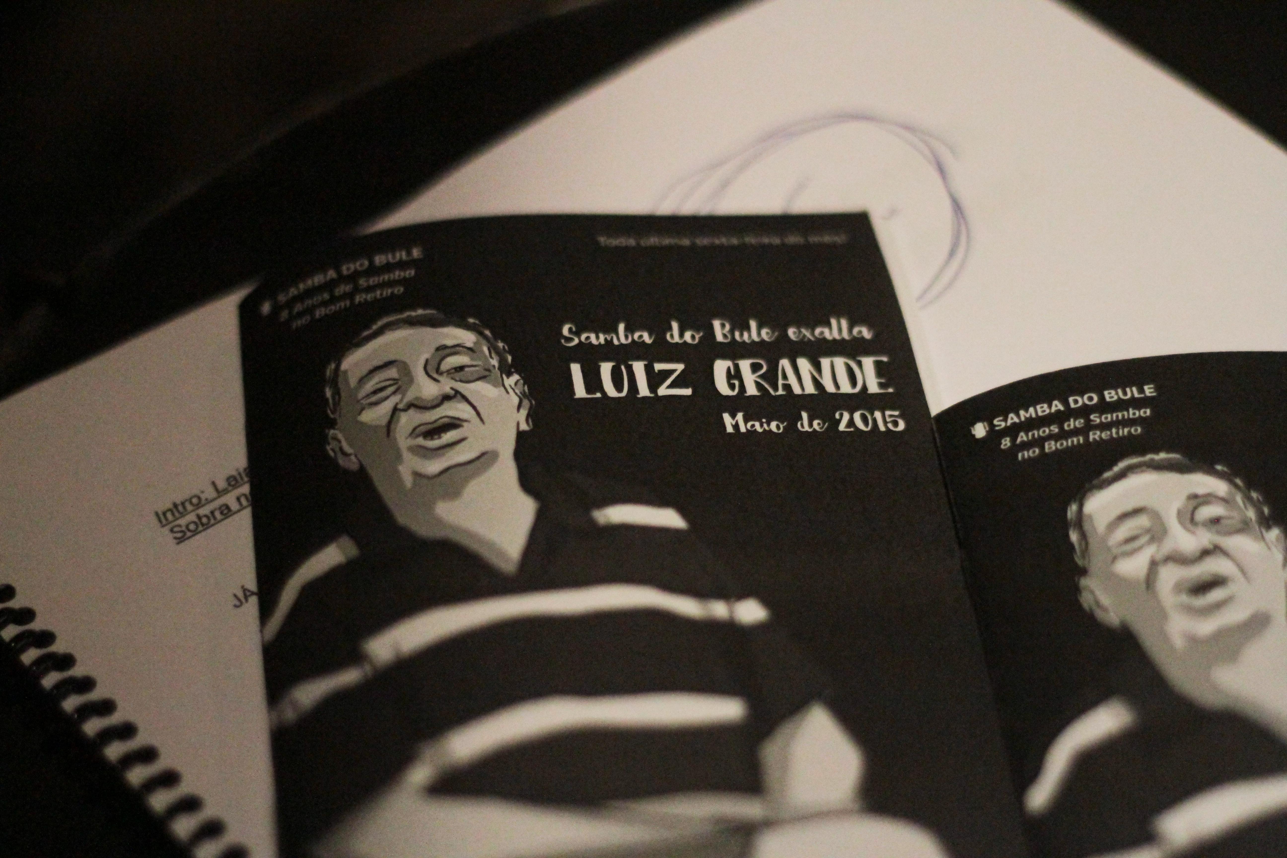 Luiz Grande e as fotos incríveis da homenagem do Samba do Bule